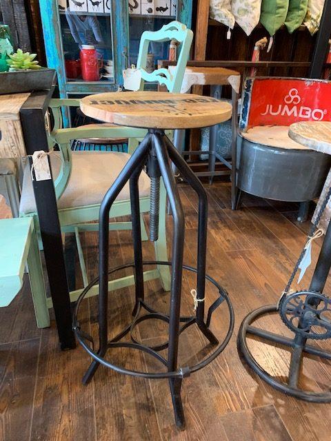 Stool bois et métal